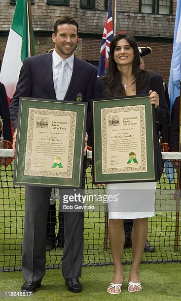 Patrick Rafter and Gabriela Sabatini during the 2006 International Tennis Hall of Fame Induction on Saturday July 15 2006 in Newport Rhode Island...