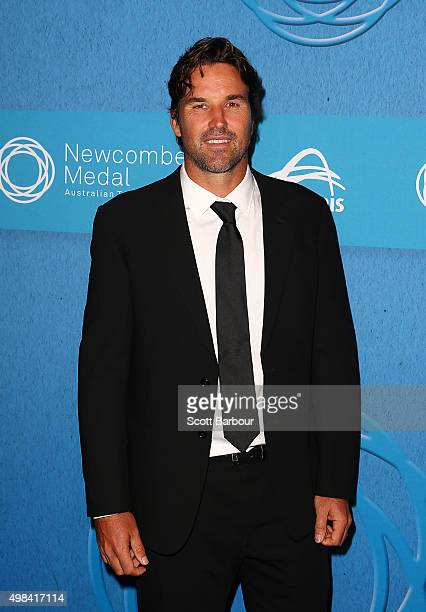 Patrick Rafter arrives at the 2015 Newcombe Medal at Crown Palladium on November 23 2015 in Melbourne Australia