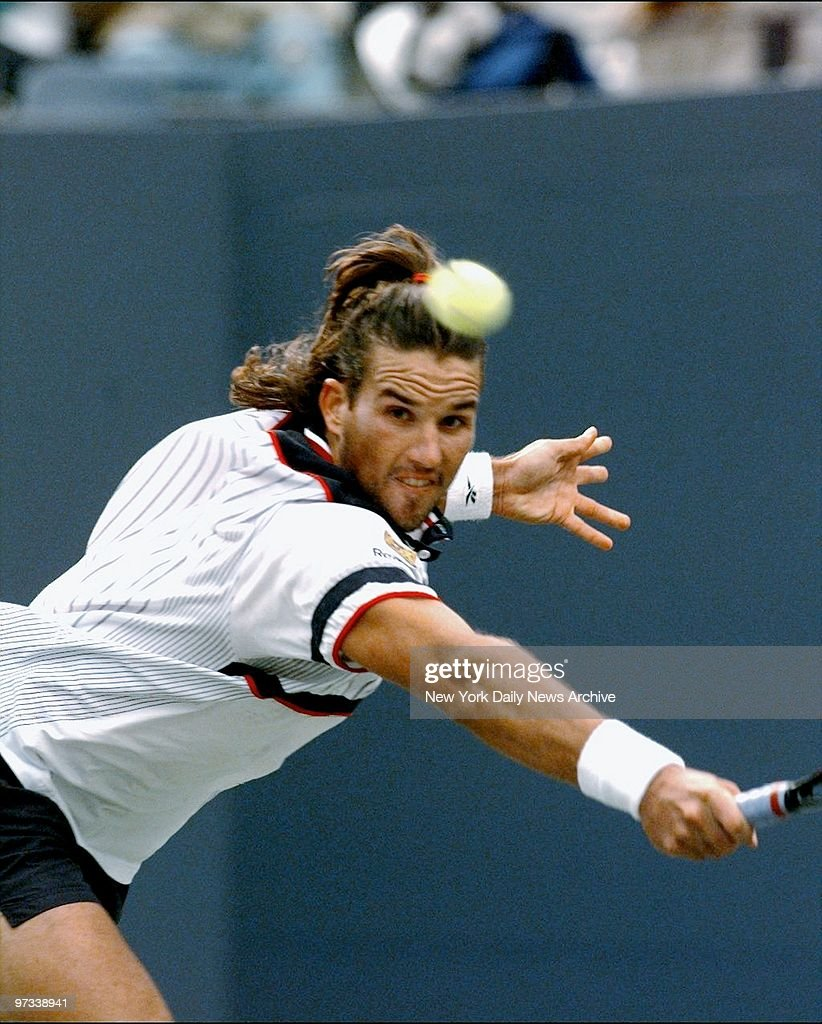 Patrick Rafter in third set action as he defeats Jonas Bjork