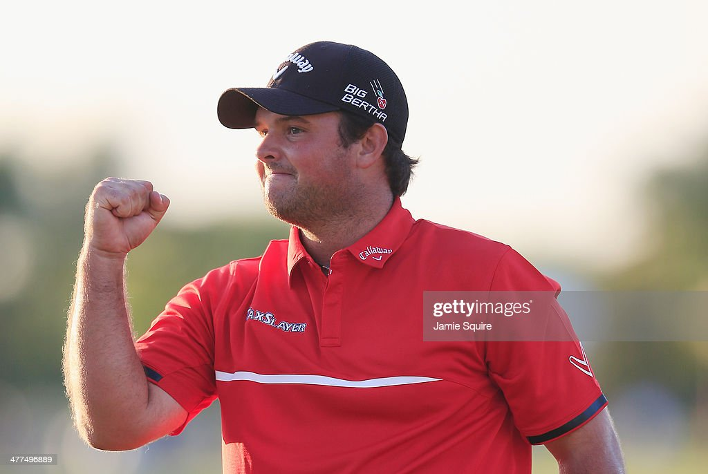 <a gi-track='captionPersonalityLinkClicked' href=/galleries/search?phrase=Patrick+Reed&family=editorial&specificpeople=846151 ng-click='$event.stopPropagation()'>Patrick Reed</a> celebrates his one-stroke victory on the 18th green during the final round of the World Golf Championships-Cadillac Championship at Trump National Doral on March 9, 2014 in Doral, Florida.