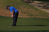 Patrick Reed hits a birdie putt on the tenth hole during the third round of the Humana Challenge in partnership with the Clinton Foundation on the...