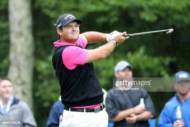 Patrick Reed of the United States during the third round of the Dell Technologies Championship on September 3 at TPC Boston in Norton Massachusetts