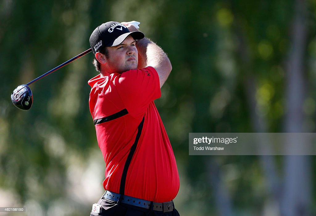 Patrick Reed of the United States tees off on the second hole during the final round of the Humana Challenge in partnership with The Clinton...