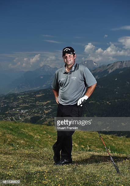 Patrick Reed of USA poses for a picture prior to the start of the Omega European Masters at CranssurSierre Golf Club on July 22 2015 in CransMontana...