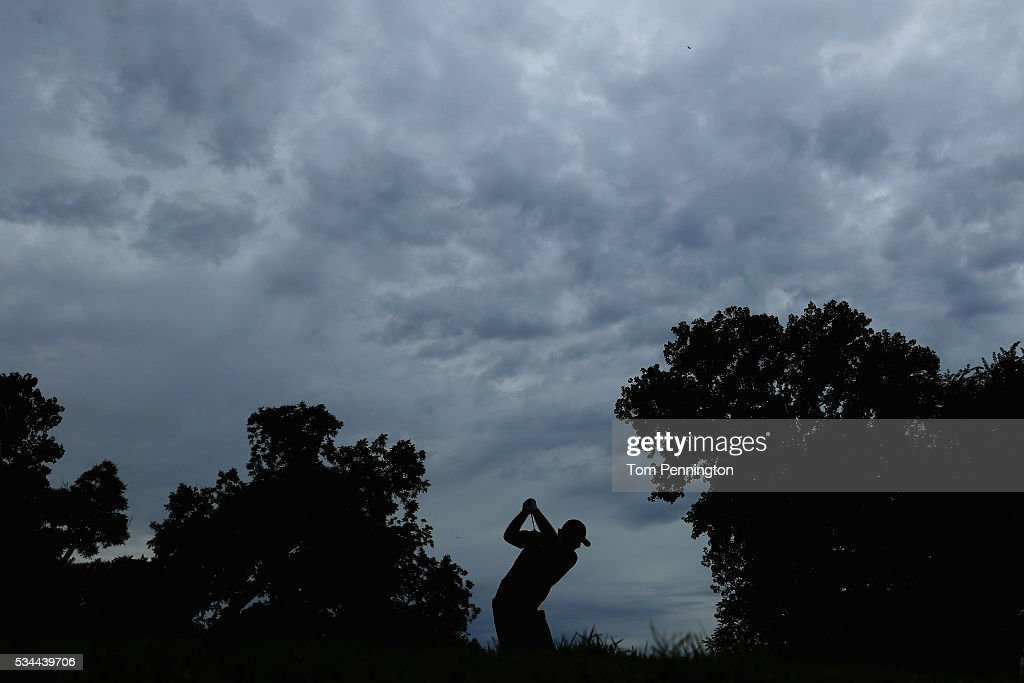 <a gi-track='captionPersonalityLinkClicked' href=/galleries/search?phrase=Patrick+Reed&family=editorial&specificpeople=846151 ng-click='$event.stopPropagation()'>Patrick Reed</a> plays his shot from the 12th tee during the First Round of the DEAN & DELUCA Invitational at Colonial Country Club on May 26, 2016 in Fort Worth, Texas.