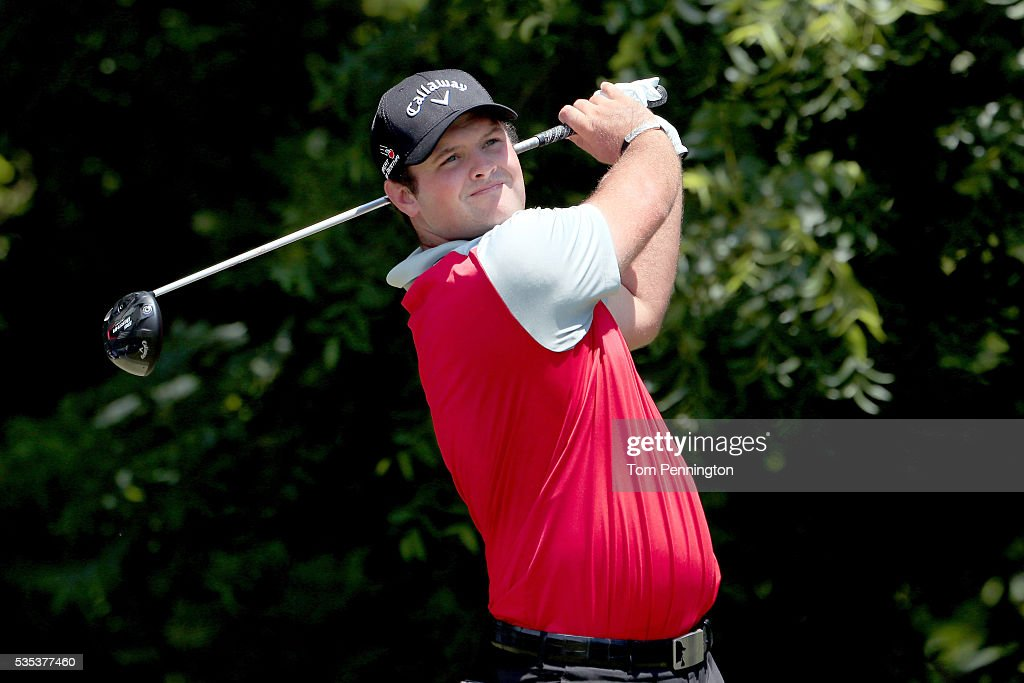 <a gi-track='captionPersonalityLinkClicked' href=/galleries/search?phrase=Patrick+Reed&family=editorial&specificpeople=846151 ng-click='$event.stopPropagation()'>Patrick Reed</a> plays his shot from the sixth tee during the Final Round of the DEAN & DELUCA Invitational at Colonial Country Club on May 29, 2016 in Fort Worth, Texas.