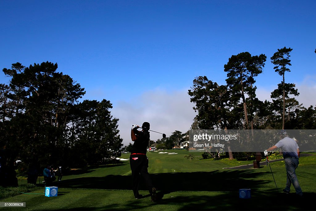 <a gi-track='captionPersonalityLinkClicked' href=/galleries/search?phrase=Patrick+Reed&family=editorial&specificpeople=846151 ng-click='$event.stopPropagation()'>Patrick Reed</a> plays his tee shot on the 13th hole during round three of the AT&T Pebble Beach National Pro-Am at the Pebble Beach Golf Links on February 13, 2016 in Pebble Beach, California.