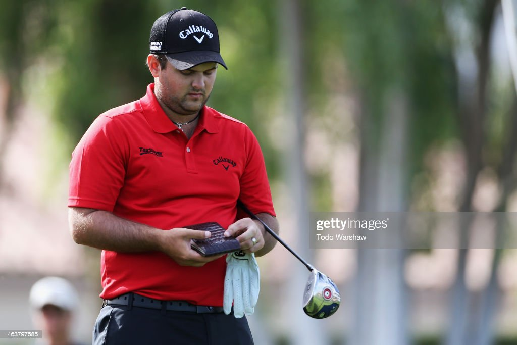 Patrick Reed plays the second hole during the final round of the Humana Challenge in partnership with the Clinton Foundation on the Arnold Palmer...
