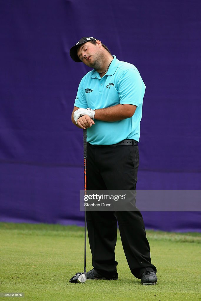 <a gi-track='captionPersonalityLinkClicked' href=/galleries/search?phrase=Patrick+Reed&family=editorial&specificpeople=846151 ng-click='$event.stopPropagation()'>Patrick Reed</a> stretches his neck as he waits to hit his tee shot on the first hole during the continuation of the second round of the FedEx St. Jude Classic at the TPC Southwind on June 7, 2014 in Memphis, Tennessee.