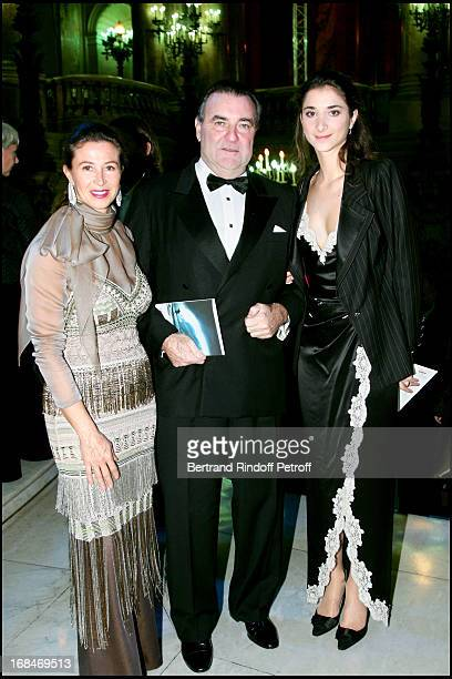 Patrick Ricard and his wife and daughter Lorraine Arop Gala at the Garnier palace with 'Idomeneo'