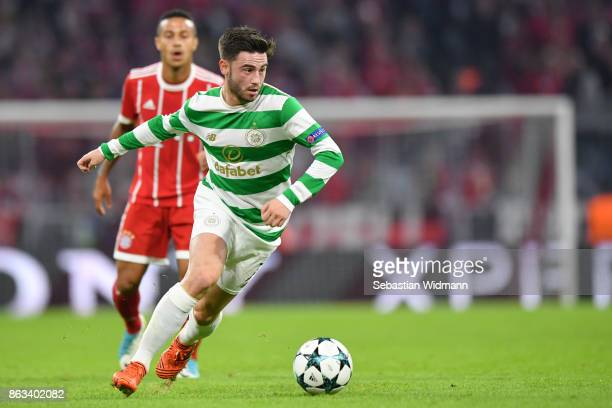 Patrick Roberts of Celtic FC in action during the UEFA Champions League group B match between Bayern Muenchen and Celtic FC at Allianz Arena on...