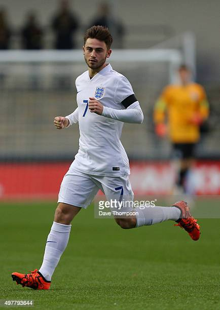 Patrick Roberts of England during the U19 International friendly match between England and Japan at Manchester City Academy Stadium on November 15...
