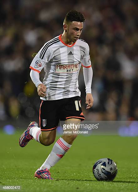 Patrick Roberts of Fulham in action during the Capital One Cup fourth round match between Fulham Derby County at Craven Cottage on October 28 2014 in...