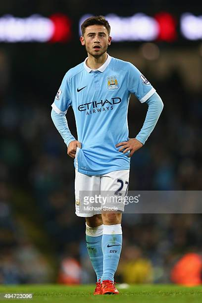 Patrick Roberts of Manchester City during the Capital One Cup fourth round match at the Etihad Stadium on October 28 2015 in Manchester England