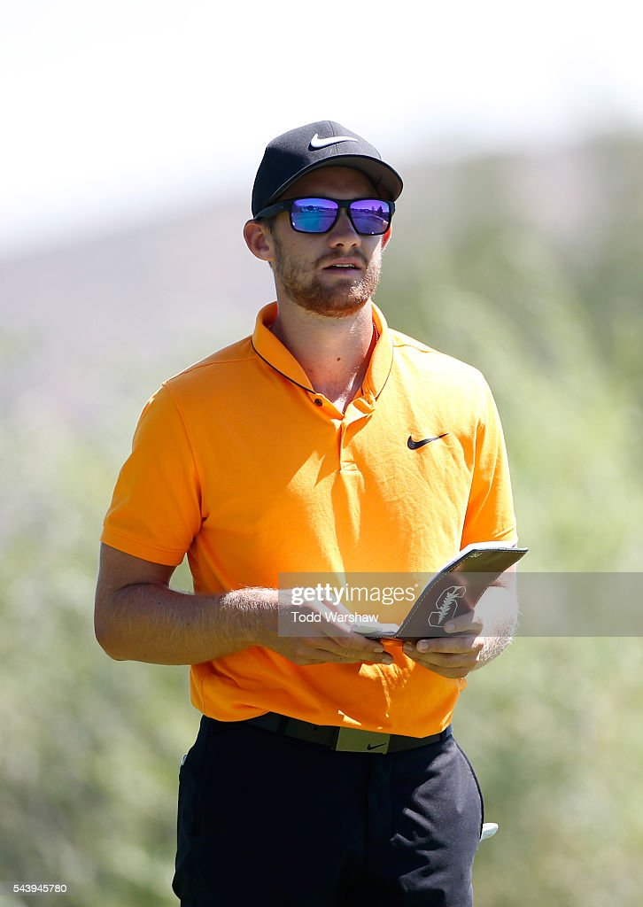 Patrick Rodgers prepares to tee off on the second tee during the first round of the Barracuda Championship at the Montreux Golf and Country Club on June 30, 2016 in Reno, Nevada.