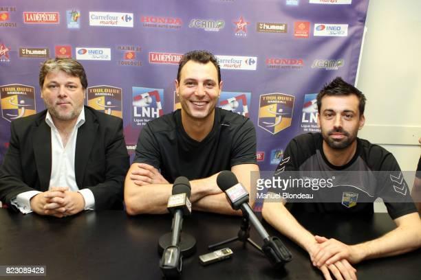 Patrick SALLES / Jerome FERNANDEZ / Joel DA SILVA 1er Entrainement avec Toulouse Handball Palais des Sports Andre Brouat