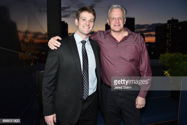 Patrick Sandman and John Green attend The Junior Board of The TEAK Fellowship Presents A Midsummer Night at PhD Lounge at the Dream Downtown New York...