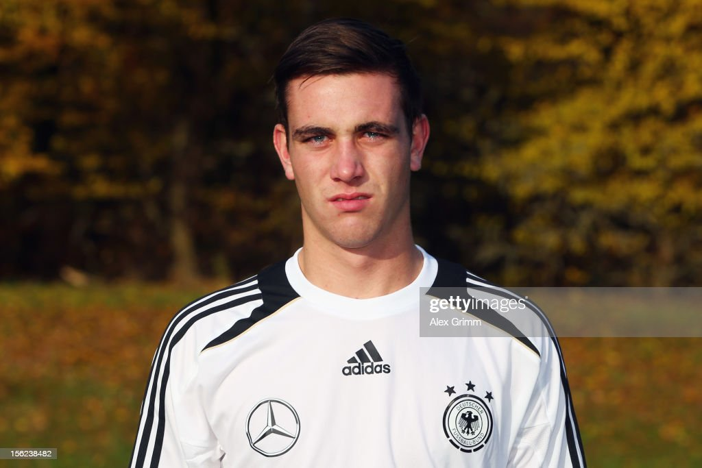 Patrick Schwarz poses during the Germany U18 team presentation at Commerzbank Arena on November 12, 2012 in Frankfurt am Main, Germany.