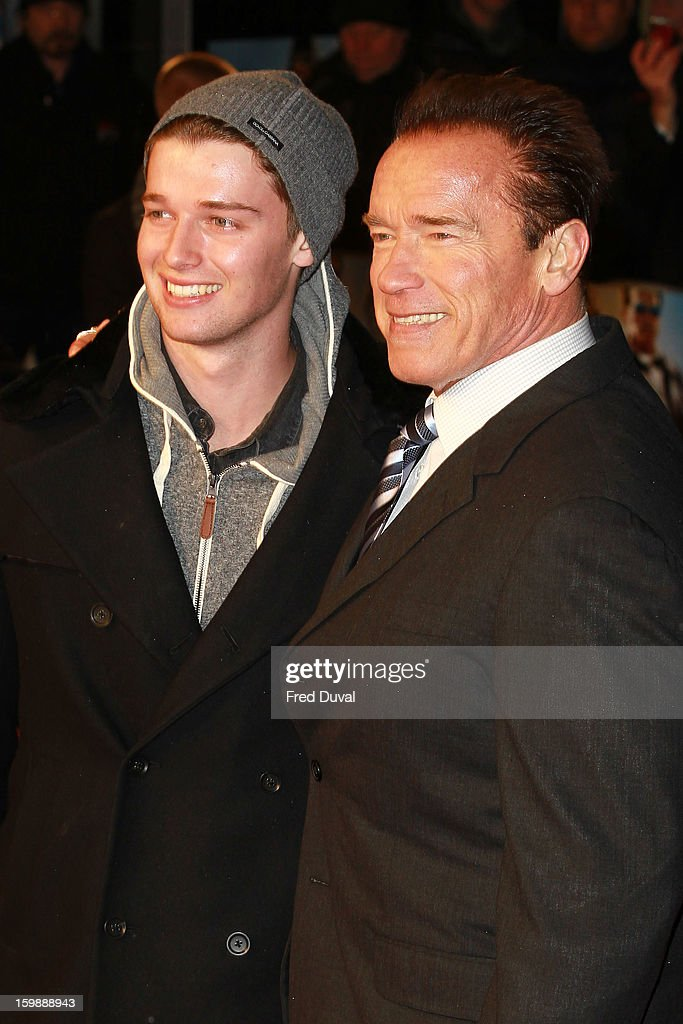 <a gi-track='captionPersonalityLinkClicked' href=/galleries/search?phrase=Patrick+Schwarzenegger&family=editorial&specificpeople=540253 ng-click='$event.stopPropagation()'>Patrick Schwarzenegger</a> and <a gi-track='captionPersonalityLinkClicked' href=/galleries/search?phrase=Arnold+Schwarzenegger&family=editorial&specificpeople=156406 ng-click='$event.stopPropagation()'>Arnold Schwarzenegger</a> attend the European Premiere of The Last Stand at Odeon West End on January 22, 2013 in London, England.