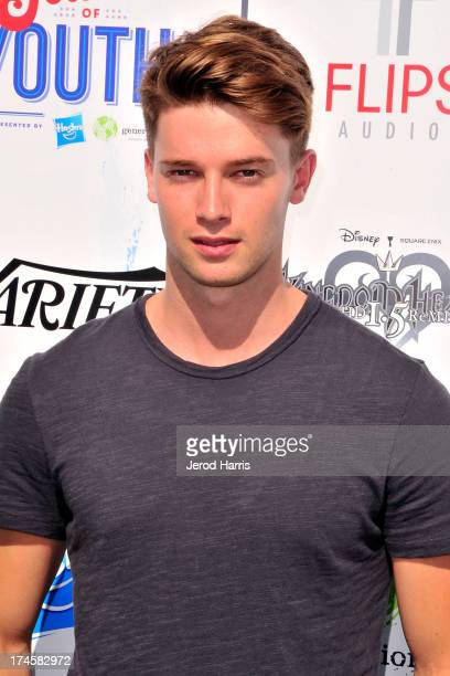 Patrick Schwarzenegger arrives at Variety's 7th Annual Power of Youth Event at Universal Studios Hollywood on July 27 2013 in Universal City...
