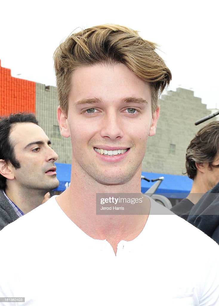 <a gi-track='captionPersonalityLinkClicked' href=/galleries/search?phrase=Patrick+Schwarzenegger&family=editorial&specificpeople=540253 ng-click='$event.stopPropagation()'>Patrick Schwarzenegger</a> attends Arnold Schwarzenegger hosts a special body building experience at the famed Muscle Beach Venice to celebrate the launch of the Arnold Series, an exclusive line of new nutritional supplements developed by Schwarzenegger and MusclePharm on September 20, 2013 in Venice, California.
