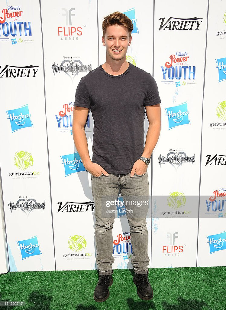 <a gi-track='captionPersonalityLinkClicked' href=/galleries/search?phrase=Patrick+Schwarzenegger&family=editorial&specificpeople=540253 ng-click='$event.stopPropagation()'>Patrick Schwarzenegger</a> attends Variety's 7th annual Power of Youth event at Universal Studios Hollywood on July 27, 2013 in Universal City, California.