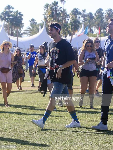 Patrick Schwarzenegger is seen at The Coachella Valley Music and Arts Festival on April 16 2016 in Los Angeles California
