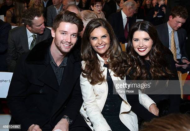 Patrick Schwarzenegger Maria Shriver and Katherine Schwarzenegger attend The Grove's 12th Annual Christmas Tree Lighting Spectacular Presented By...