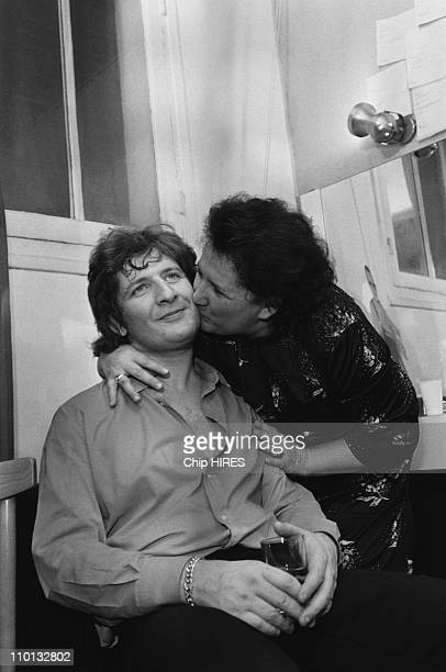 Patrick Sebastian and his mother at the Olympia in Paris France on December 17 1980