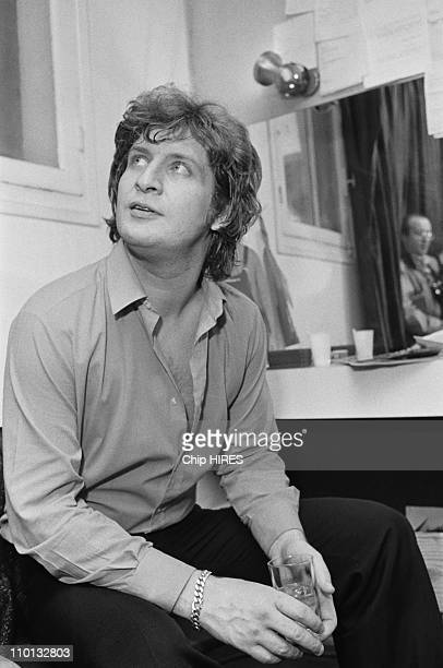 Patrick Sebastian backstage at the Olympia in Paris France on December 17 1980