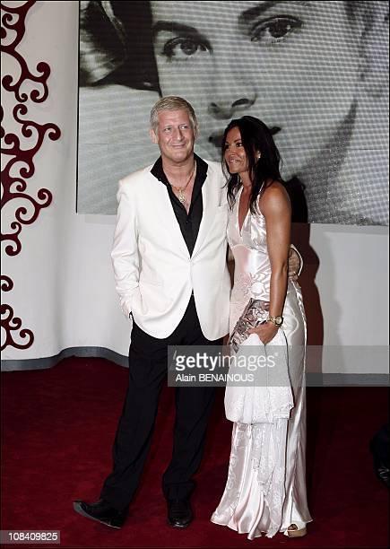 Patrick Sebastien and his wife in Monaco on July 28 2007