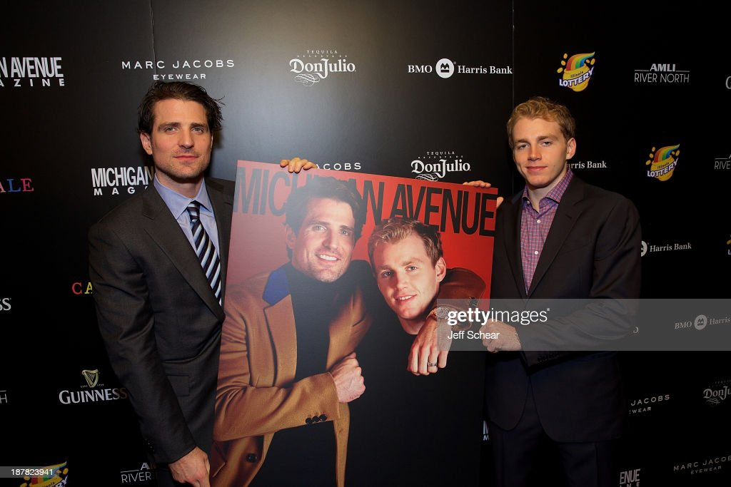 <a gi-track='captionPersonalityLinkClicked' href=/galleries/search?phrase=Patrick+Sharp&family=editorial&specificpeople=206279 ng-click='$event.stopPropagation()'>Patrick Sharp</a> and Patrick Kane attend Michigan Avenue Magazine November Cover Celebration Hosted By Chicago Blackhawks' <a gi-track='captionPersonalityLinkClicked' href=/galleries/search?phrase=Patrick+Sharp&family=editorial&specificpeople=206279 ng-click='$event.stopPropagation()'>Patrick Sharp</a> & Patrick Kane at Carnivale on November 12, 2013 in Chicago, Illinois.