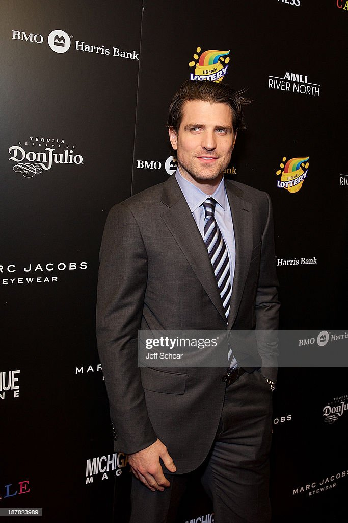 Patrick Sharp attends Michigan Avenue Magazine November Cover Celebration Hosted By Chicago Blackhawks' Patrick Sharp & Patrick Kane at Carnivale on November 12, 2013 in Chicago, Illinois.