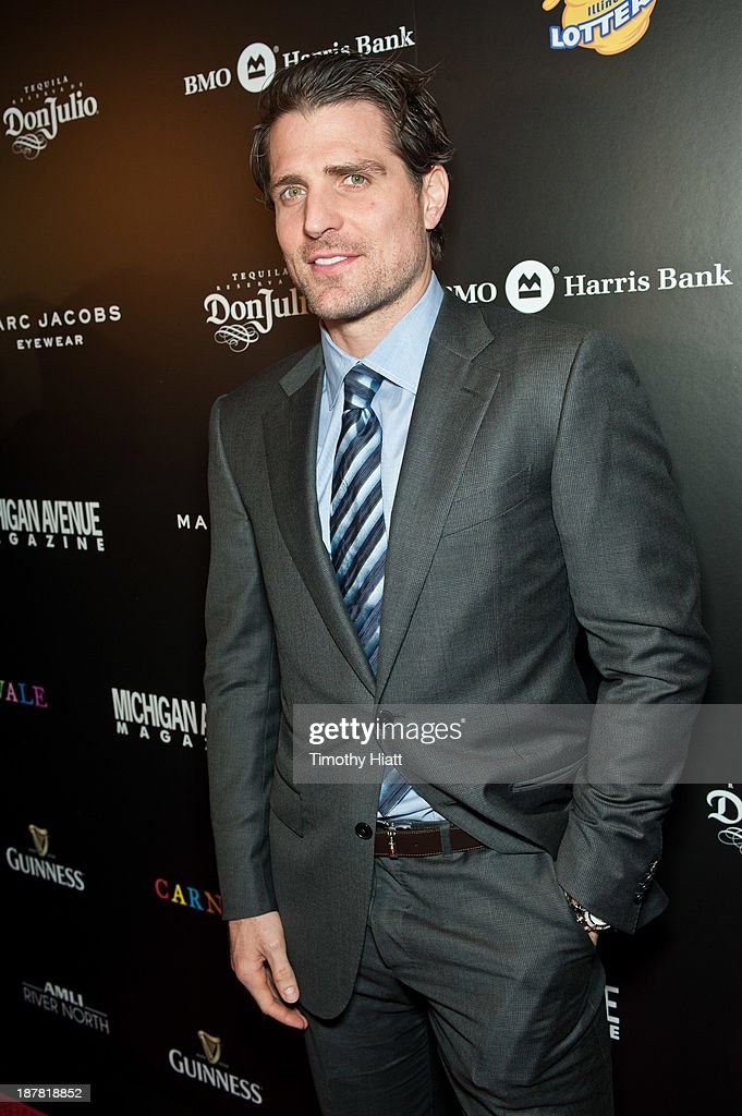 <a gi-track='captionPersonalityLinkClicked' href=/galleries/search?phrase=Patrick+Sharp&family=editorial&specificpeople=206279 ng-click='$event.stopPropagation()'>Patrick Sharp</a> of the Chicago Blackhawks attends the Michigan Avenue Magazine November issue celebration at Carnivale on November 12, 2013 in Chicago, Illinois.