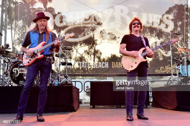 Patrick Simmons and Tom Johnston of the Doobie Brothers perform at the 17th Annual Doheny Blues Festival at Doheny State Beach on May 18 2014 in Dana...