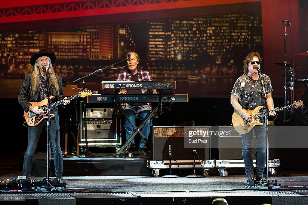 Patrick Simmons Bill Payne and Tom Johnson of The Doobie Brothers perform at White River Amphitheatre on August 23 2016 in Auburn Washington