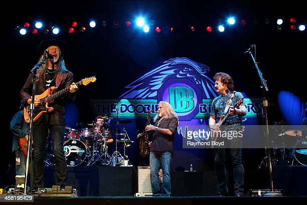 Patrick Simmons Ed Toth Marc Russo and Tom Johnston of the Doobie Brothers performs on the Briggs Stratton Big Backyard Stage at the Henry W Maier...