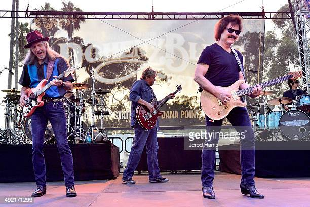 Patrick Simmons John Cowan and Tom Johnston of the Doobie Brothers perform at the 17th Annual Doheny Blues Festival at Doheny State Beach on May 18...
