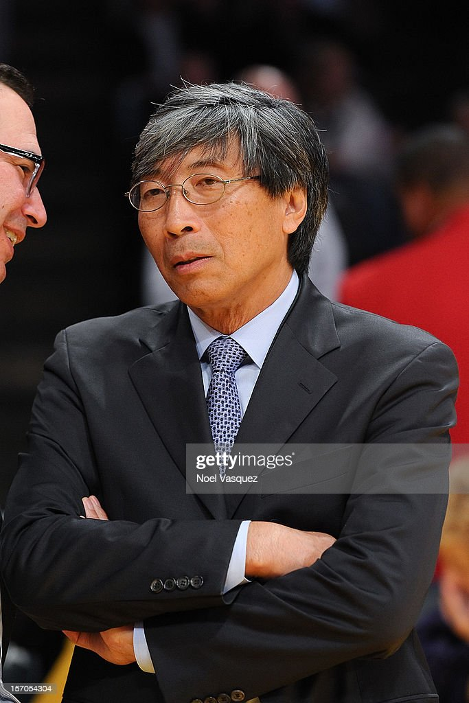 Patrick Soon-Shiong attends a basketball game between the Indiana Pacers and the Los Angeles Lakers at Staples Center on November 27, 2012 in Los Angeles, California.