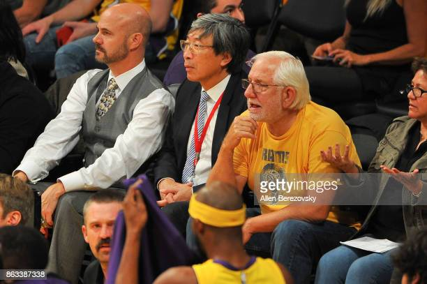 Patrick SoonShiong attends a basketball game between the Los Angeles Lakers and the Los Angeles Clippers at Staples Center on October 19 2017 in Los...