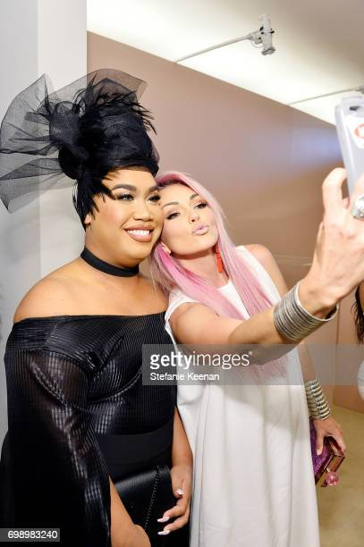 Patrick Starr and Kandee Johnson celebrate The Launch Of KKW Beauty on June 20 2017 in Los Angeles California