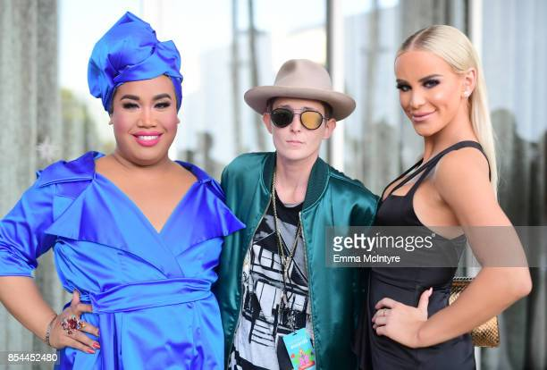 Patrick Starr Nats Getty and Gigi Gorgeous at the 2017 Streamy Awards at The Beverly Hilton Hotel on September 26 2017 in Beverly Hills California