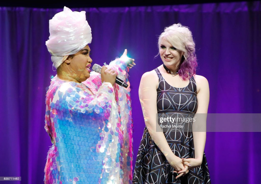 Patrick Starrr (L) and Megan Walter at the 2017 NYX Professional Makeup FACE Awards at The Shrine Auditorium on August 19, 2017 in Los Angeles, California.