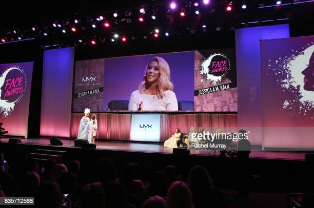 Patrick Starrr Jessica Kalil Mykie Chrisspy Alexys Fleming and Ve Neill at the 2017 NYX Professional Makeup FACE Awards at The Shrine Auditorium on...