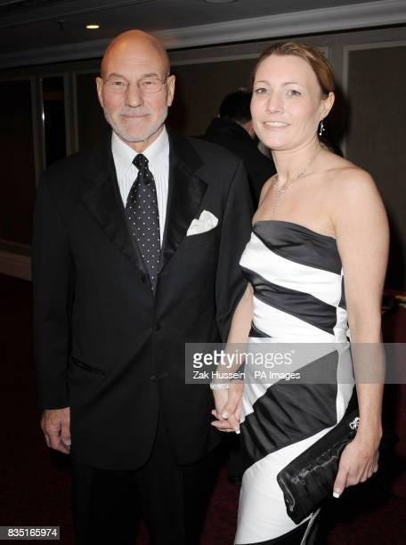 Patrick Stewart and daughter Sophie arrive for the Laurence Olivier Awards at the Grosvenor Hotel in central London