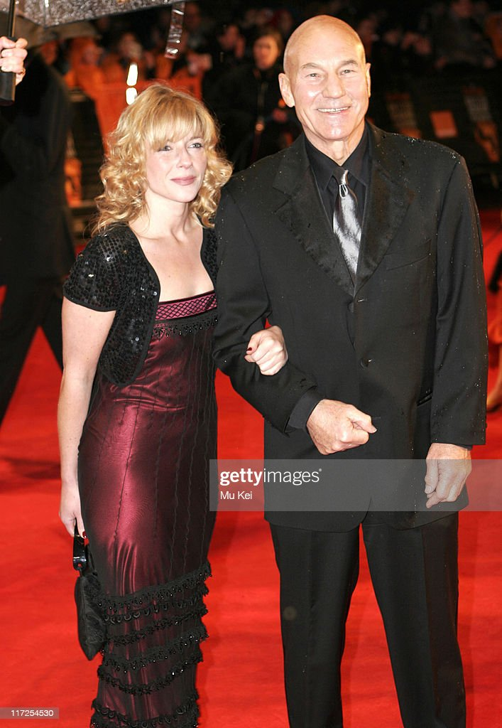 Patrick Stewart and guest during The Orange British Academy Film Awards 2006 - Arrivals at Odeon Leicester Square in London, Great Britain.