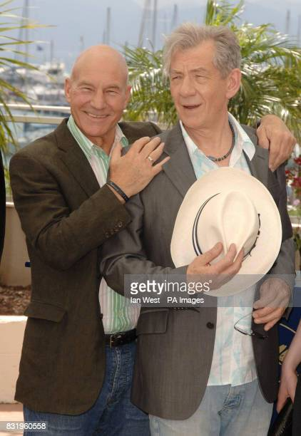 Patrick Stewart and Sir Ian McKellen attend a photocall for their new film 'XMEN 3 The Last Stand' at the Palais du Festival in Cannes France