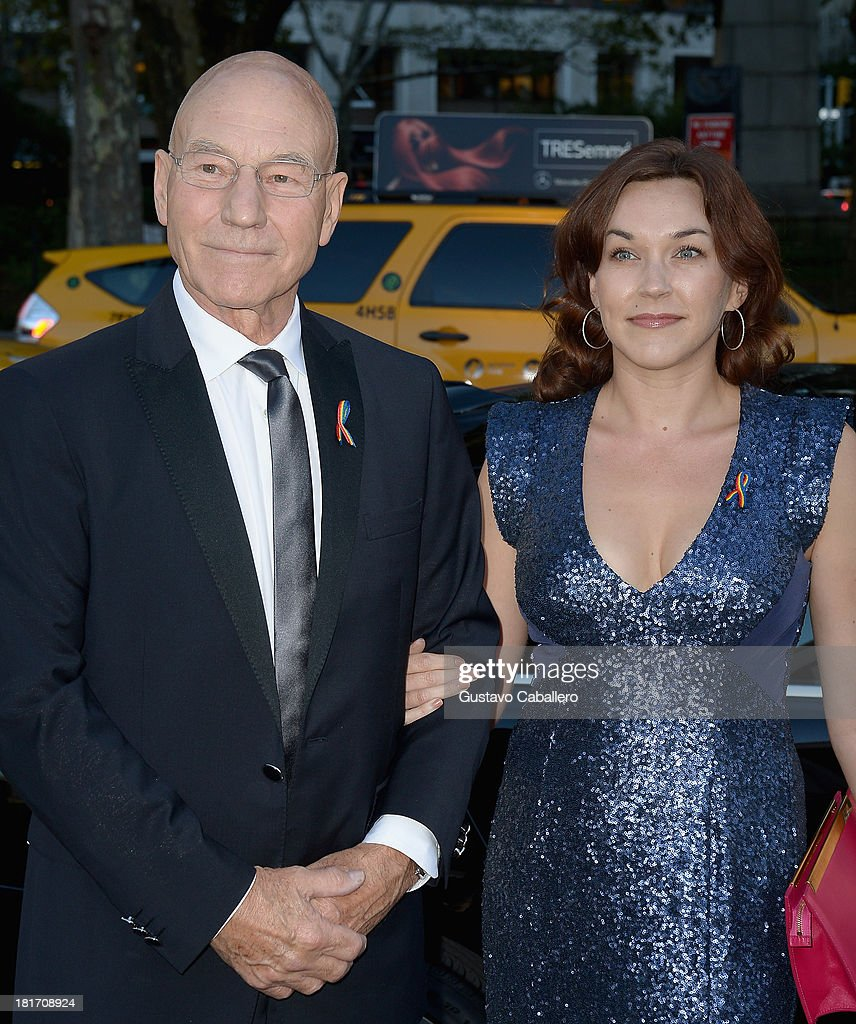 <a gi-track='captionPersonalityLinkClicked' href=/galleries/search?phrase=Patrick+Stewart&family=editorial&specificpeople=203271 ng-click='$event.stopPropagation()'>Patrick Stewart</a> and Sunny Ozell is seen New York on September 23, 2013 in New York City.