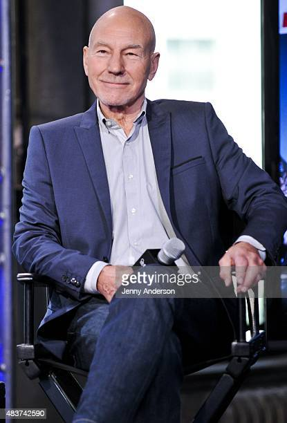 Patrick Stewart attends AOL Build Presents 'Blunt Talk' at AOL Studios in New York on August 12 2015 in New York City