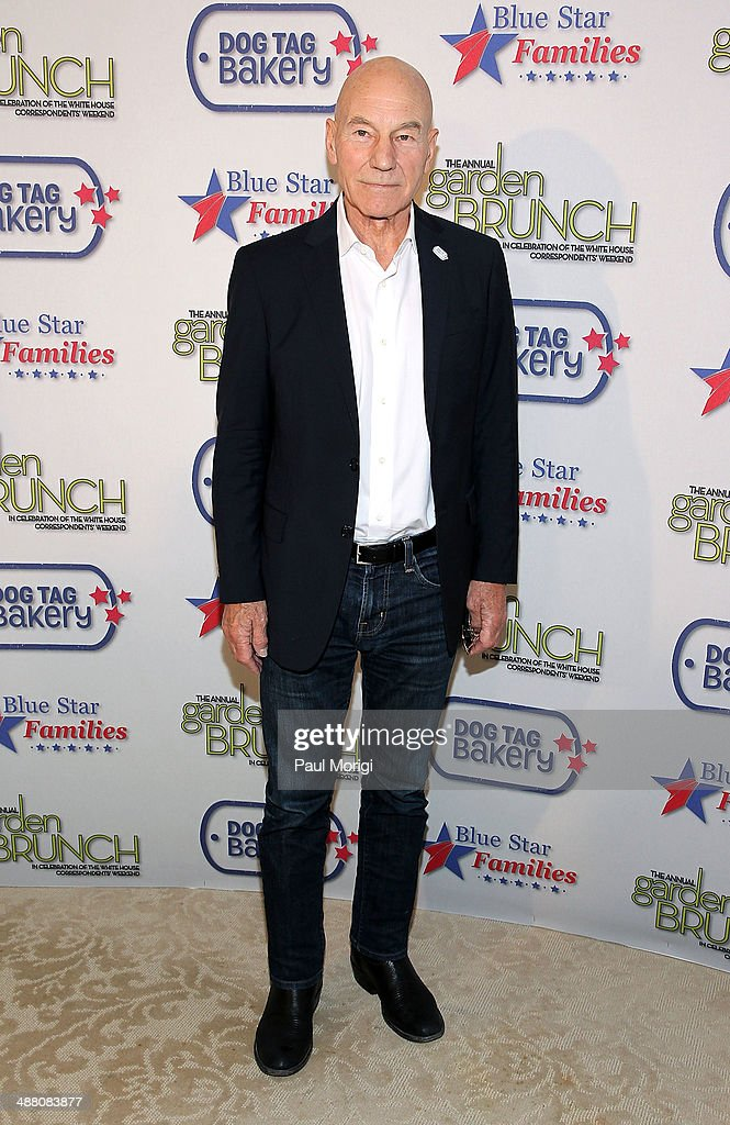 <a gi-track='captionPersonalityLinkClicked' href=/galleries/search?phrase=Patrick+Stewart&family=editorial&specificpeople=203271 ng-click='$event.stopPropagation()'>Patrick Stewart</a> attends the 2014 Annual Garden Brunch at the Beall-Washington House on May 3, 2014 in Washington, DC.